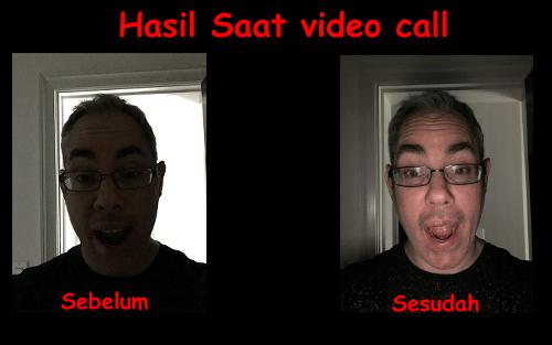 cara agar video call jadi terang saat malam hari