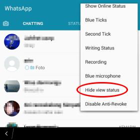 cara membuat kamu tidak diketahui telah melihat status teman di WA