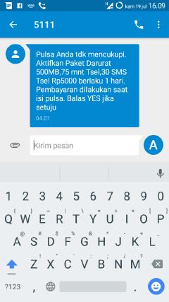 cara mendapatkan kuota darurat telkomsel 500MB