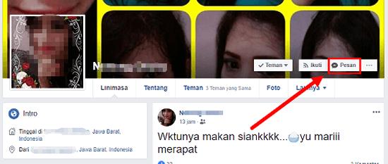 cara blokir pesan di facebook