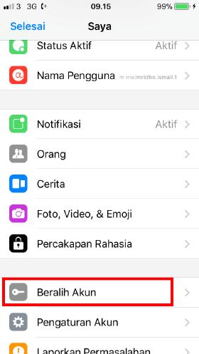 cara keluar aplikasi messenger iOS