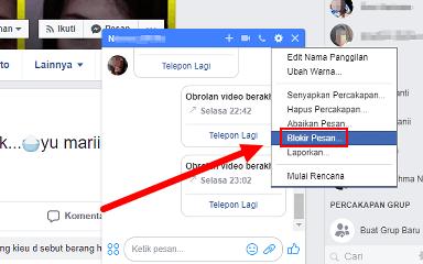 agar orang lain tidak bisa mengirim pesan di facebook dan messenger