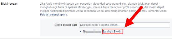 cara membuka blokir pesan facebook dan aplikasi messenger