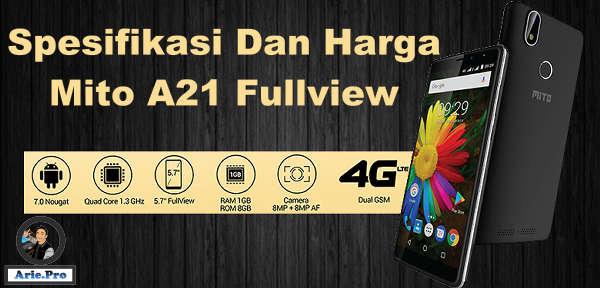 Spesifikasi Mito A21 Fullview Dual Camera Fingerprint Harga Rp 1 juta