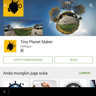 aplikasi untuk membuat planet kecil