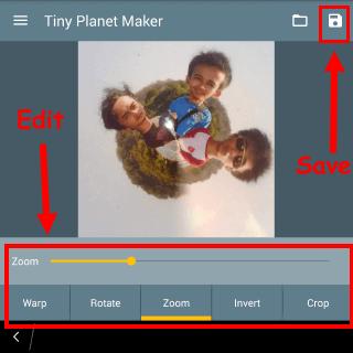 nama aplikasi untuk membuat tiny planet di android