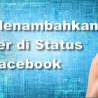 cara menambahkan stiker bergerak di status facebook