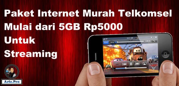 paket internet murah Telkomsel 5Gb cuma Rp5000 untuk streaming