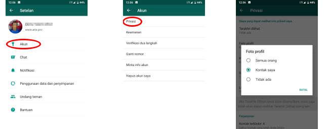 agar orang lain tidak bisa melihat foto profil kita di whatsapp