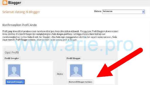 cara mudah membuat blog di bloggercom