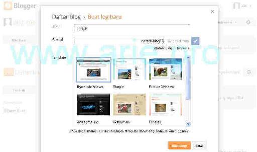 cara mendapatkan template blogger gratis