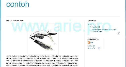 contoh blog hasil dari blogger.com