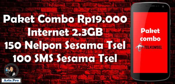 cara daftar paket internet telkomsel kuota 2.3GB Rp19.000