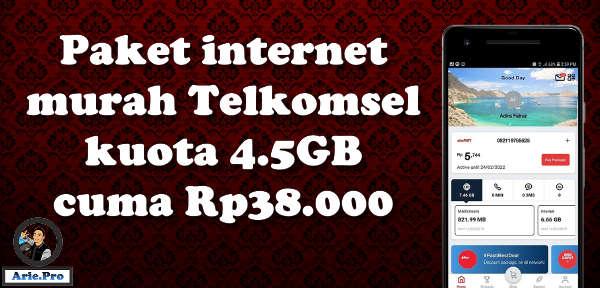 paket internet combo simpati telkomsel 4.5GB cuma Rp38.000