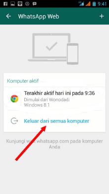 cara menghilangkan sadapan di WhatsApp