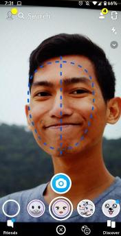cara merubah wajah di snapchat
