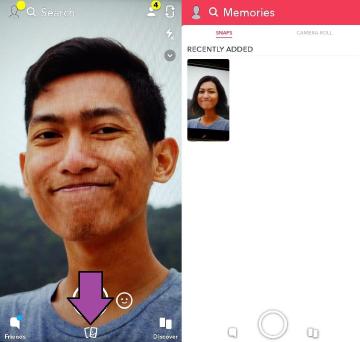 cara menyimpan foto dan video hasil editan di snapchat