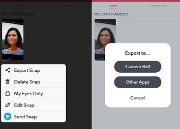 cara share hasil editan foto dan video di snapchat