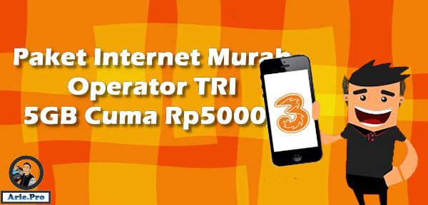 paket tri 5GB Rp5ribu untuk 3 hari kuota internet tri murah