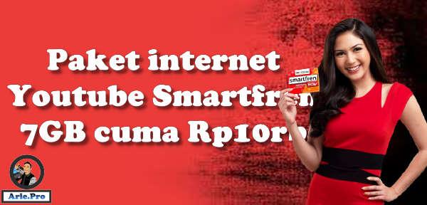 cara daftar paket internet youtube smartfren 7GB cuma Rp10rb