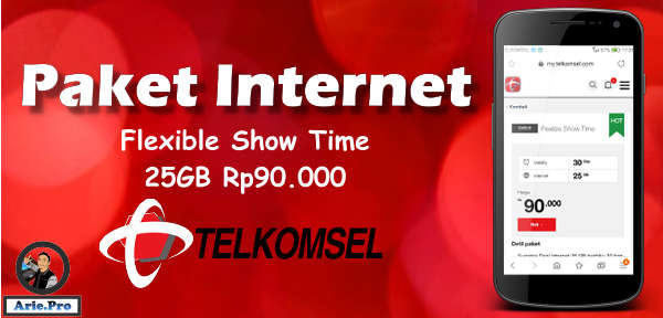 cara beli paket internet telkomsel 25GB cuma Rp90rb