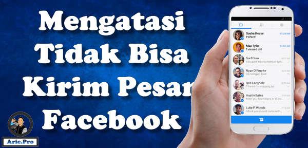 mengapa facebook tidak bisa klik tombol kirim pesan dan messenger