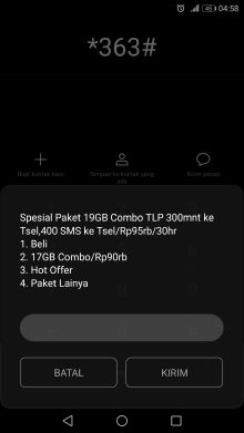 kode paket 19gb rp95rb telkomsel