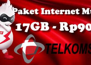 Cara daftar paket internet telkomsel 17GB cuma Rp19rb