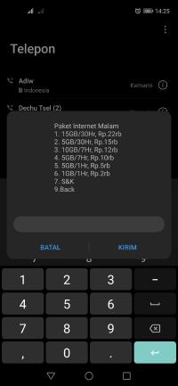 daftar harga paket internet malam termurah all operator