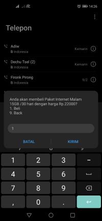 kode internet malam termurah telkomsel