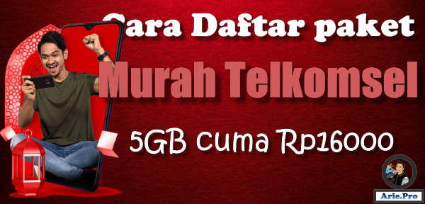 5GB cuma Rp16rb paket data internet Telkomsel
