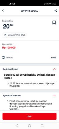 Cara daftar paket internet telkomsel 20gb Rp100000