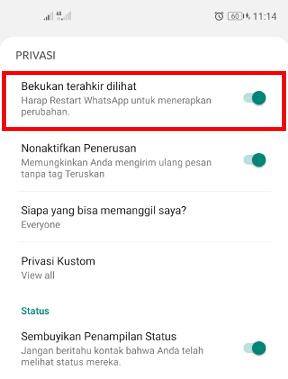 cara agar whatsapp menjadi seperti sudah lama tidak dibuka