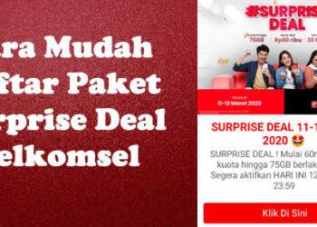 paket surprise deal telkomsel 20GB cuma Rp100rb 30 hari