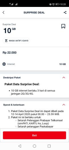 cara daftar paket internet kuota 22GB harga 22rb telkomsel