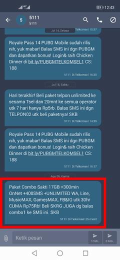 Cara daftar paket internet 17GB Rp75rb telkomsel