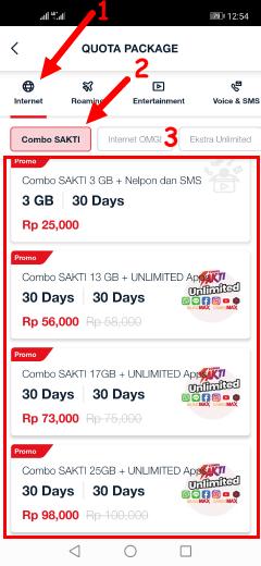 Cara membeli paket combo sakti Telkomsel unlimited aplikasi