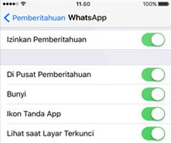 pesan whatsapp hanya muncul ketika aplikasi dibuka