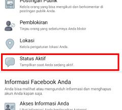 cara menonaktifkan status online di aplikasi facebook