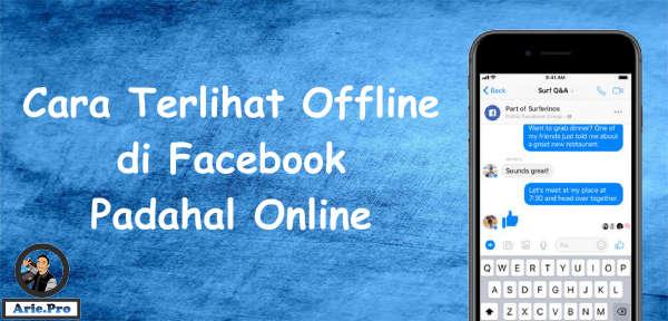 cara agar terlihat offline di aplikasi facebook messenger WEB dan Lite