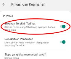 cara membekukan terakhir dilihat di whatsapp mods
