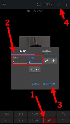 cara buat pas foto ukuran 2x3 di android