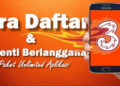 cara daftar unreg paket internet tri unlimited youtube WA TikTok Fb dll
