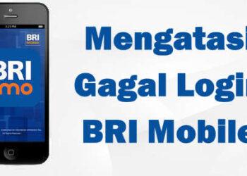 cara mengatasi error 109 gagal login BRI mobile masukan sim card