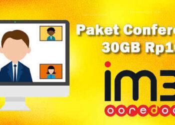 cara daftar paket internet zoom im3 30GB cuma Rp10 kuota conference