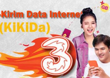 cara minta kirim kuota data internet TRI KiKiDa