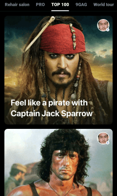 memilih video yang wajahnya dirubah dengan wajah kita di aplikasi android