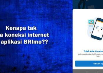 tidak ada koneksi internet di Brimo mohon maaf server dalam perbaikan